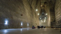 Timelapsed corridor in the decommissioned salt mine Stock Footage