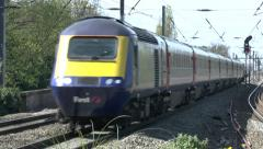 First Great Western high speed train, Hanwell & Elthorne station, London, UK - stock footage