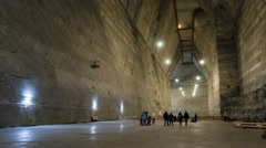 Timelapsed corridor in the decommissioned salt mine Stock Footage