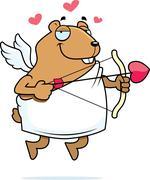 hamster cupid - stock illustration