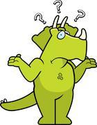 dinosaur confused - stock illustration