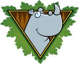 Stock Illustration of rhino safari icon