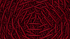 Abstract wire in red color Stock Footage