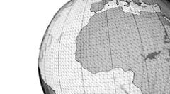 World globe wireframe seamless loop Stock Footage