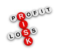 Risk profit loss Stock Illustration