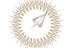 The arrow pointer - stock illustration