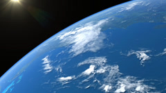 Earth Orbit from Space Stock Footage
