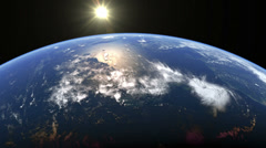 Earth Rotation from Space - stock footage