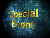 Stock Illustration of Finance concept: Special Event on digital background
