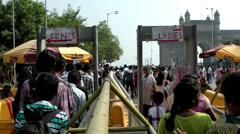 India Maharashtra District Mumbai 025 security control at the Gateway of India Stock Footage