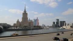 Hotel Ukraina and internatonal Centre for Traid Stock Footage