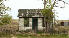 Abandoned House Western Route 66 Ghost Town - stock footage