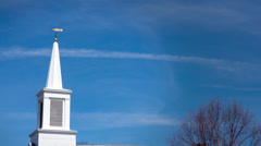 Church Steeple Timelapse Stock Footage