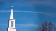 Stock Video Footage of Church Steeple Timelapse