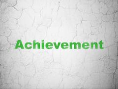 Education concept: Achievement on wall background - stock illustration