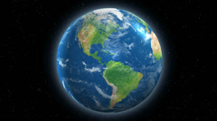 4K Earth From Space Rotating Seamless Loop Stock Footage