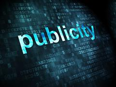 Stock Illustration of Marketing concept: Publicity on digital background