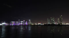 Miami Skyline Timelpase while Ultra Music Festival Stock Footage