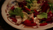 Stock Video Footage of Eating Greek Salad
