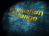 Stock Illustration of Information concept: Information Exchange on digital background