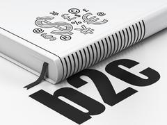 Finance concept: book Finance Symbol, B2c on white background Stock Illustration