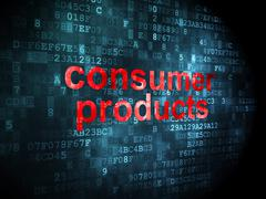 Business concept: Consumer Products on digital background - stock illustration