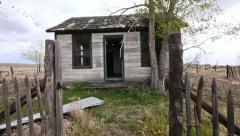 Abandoned Buildings Western Route 66 Ghost Town Stock Footage