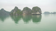 Stock Video Footage of Hailong bay from boat- 4K