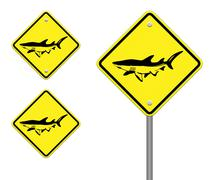 Dolphin yellow and black sign - no fishing allowed Piirros
