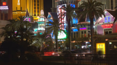 Timelapse traffic street avenue Las Vegas strip casino sin city illumined night  Stock Footage