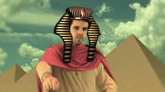 POINT 1 pharoh pyramids pyramid Stock Footage