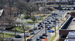 Moderate Traffic on a City Street Stock Footage