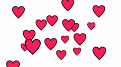 Love Background Pink Hearts Stock Footage