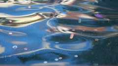 view of coins at the bottom of a fountain - stock footage