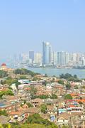 Xiamen aerial view from Gulang-yu island, China Stock Photos