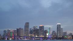 Miami Timelpase 4K Stock Footage
