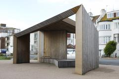 Stock Photo of Shelter at Bexhill-0n-Sea. Sussex. England