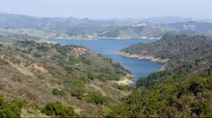 2.5K Ventura California Lake Casitas Wide Stock Footage