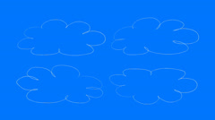 Real Animated Cartoon Clouds Stock Footage