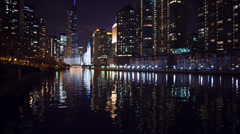 Chicago River - Trump Tower Stock Footage