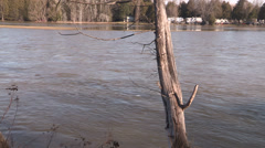 Belleville Ontario spring flood Stock Footage