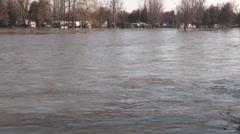 New Hamburg Ontario spring flood Stock Footage
