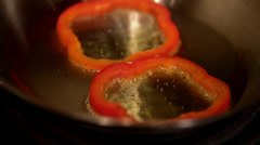 Pepper Sizzling - stock footage