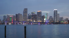 Miami Timelpase Day to Night Skyline 4K - stock footage