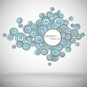 Doodle Abstract Background - stock illustration