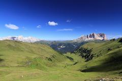Dolomiti - landscape from Pian de Sele - stock photo
