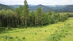 Beautiful landscape of the altai mountains from mount shallow sinyuha. Stock Footage