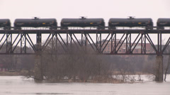 Crude oil transported by rail - stock footage