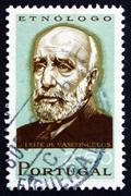 Stock Photo of Postage stamp Portugal 1966 Jose Liete de Vasconcelos, Ethnologi