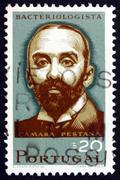 Postage stamp Portugal 1966 Camara Pestana, Bacteriologist - stock photo